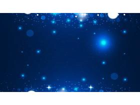 蓝色抽象星光星星PPT背景图片