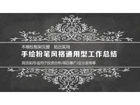黑板粉笔手绘风格的工作总结PPT中国嘻哈tt娱乐平台