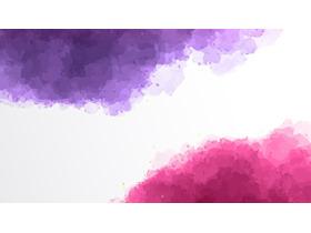 紫色粉色艺术渲染PPT背景图片