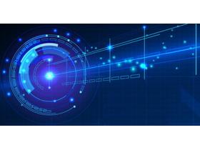 蓝色科技感PPT背景图片