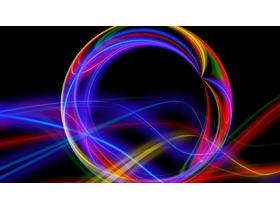 炫彩抽象曲线PPT背景图片