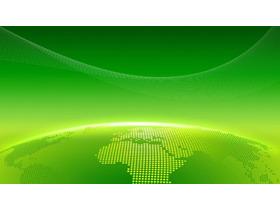 绿色实用商务PPT背景图片