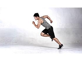 奔跑的男子PPT背景图片