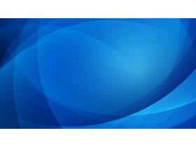 蓝色曲线多边形幻灯片背景图片