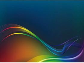 彩色抽象曲线PPT背景图片
