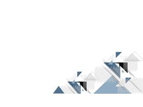 三张蓝色三角形组合PPT背景图片