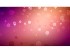 紫色唯美泡泡PPT背景图片