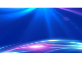 蓝色科技光线PPT背景图片