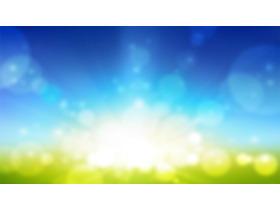 梦幻风格的蓝绿模糊幻灯片背景图片