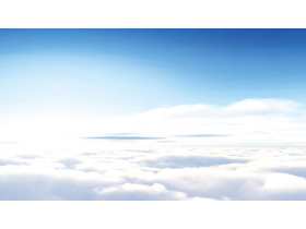 天空白云PPT背景图片
