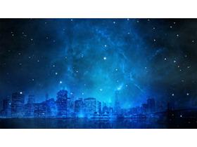 蓝色星空下的城市澳客彩票网平台