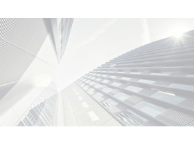 淡雅黑白写字楼建筑PPT背景图片