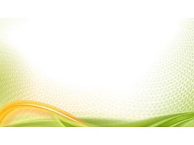 绿色蜂窝六边形PPT背景图片