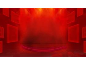 红色抽象舞台必发88背景图片