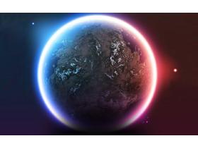 唯美星球幻灯片背景图片