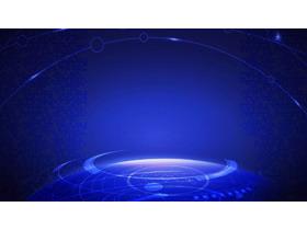 蓝色抽象光环背景的商务必发88背景图片