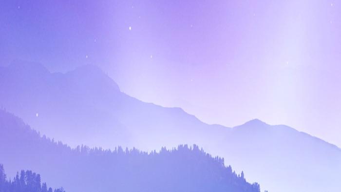 紫色淡雅群山ppt背景圖片