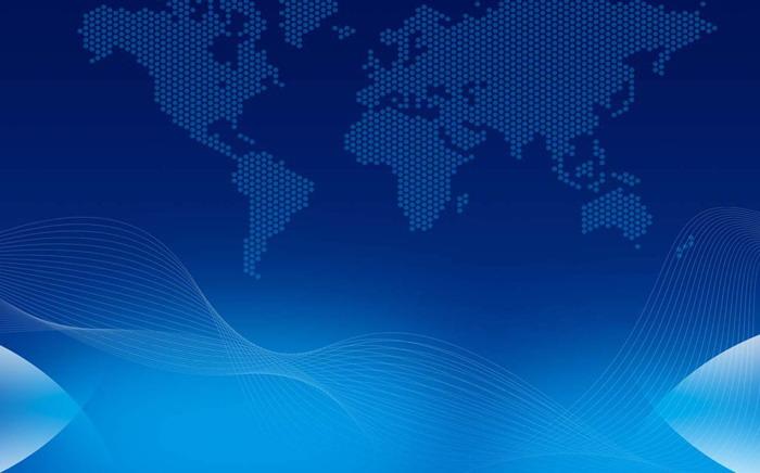 蓝色世界地图点阵图ppt背景图片