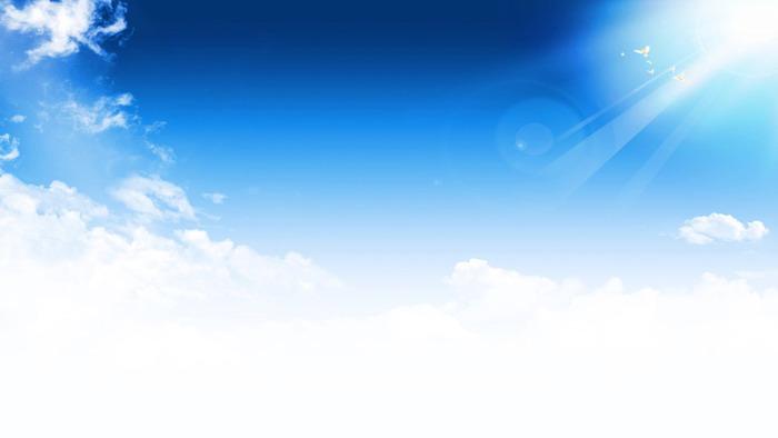 阳光明媚的蓝天白云ppt背景图片