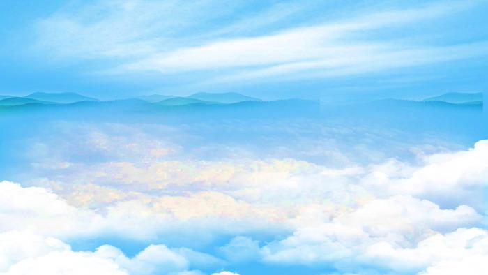 大气磅礴云海群山ppt背景图片图片