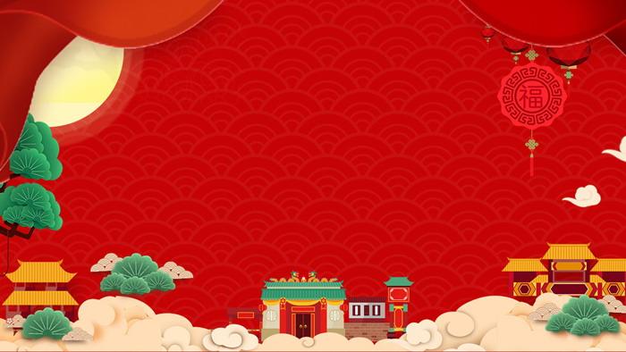 三张卡通中国风新年ppt背景图片
