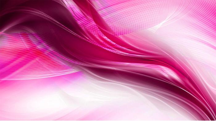 粉色抽象线条PowerPoint背景图片
