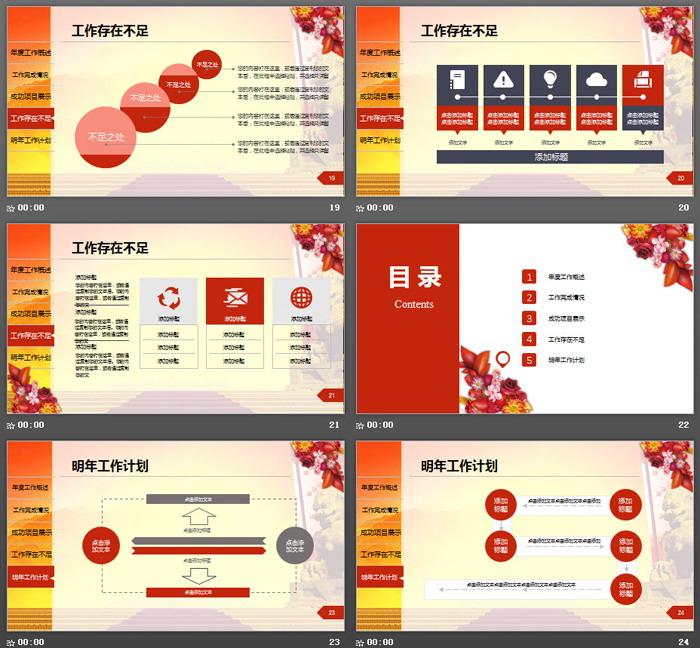 喜庆开门红设计的房地产工作总结汇报PPT模板