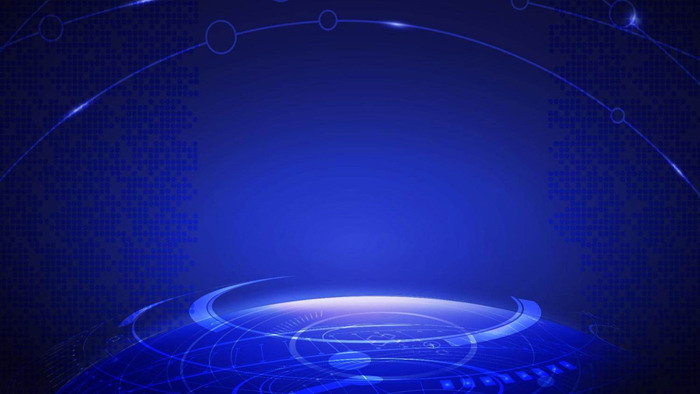 蓝色抽象光环背景的商务PPT背景图片