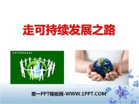 《走可持续发展之路》共同面对前所未有的挑战PPT