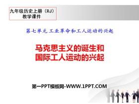 《马克思主义的诞生和国际工人运动的兴起》PPT课件