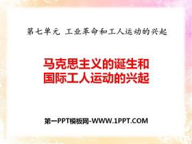 《马克思主义的诞生和国际工人运动的兴起》PPT下载