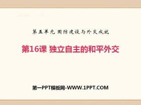 《独立自主的和平外交》PPT课件