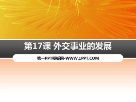 《外交事业的发展》PPT课件