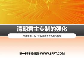 《清朝君主专制的强化》PPT