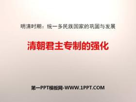 《清朝君主专制的强化》PPT课件