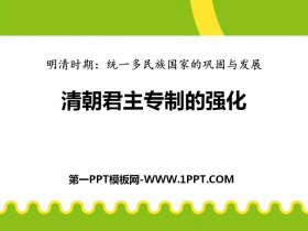 《清朝君主专制的强化》PPT下载