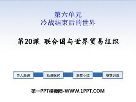 《联合国与世界贸易组织》PPT下载