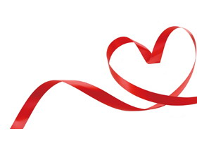 简洁红色爱心必发88背景图片