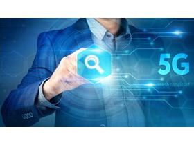 5G主题科技PPT背景图片