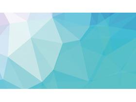 蓝色渐变低平面多边形PPT背景图片