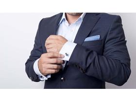 身穿衬衣西装的商务人物PPT背景图片