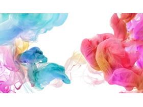 彩色颜料烟雾PPT背景图片