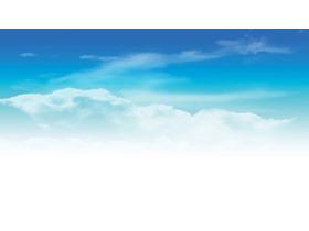 雅致蓝天白云PPT背景图片
