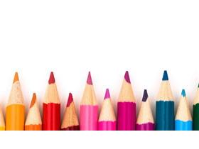 可爱彩色铅笔PPT背景图片