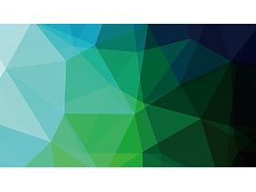 两张绿色低平面多边形PPT背景图片