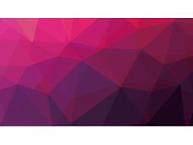 紫色低平面多�形PowerPoint背景�D片