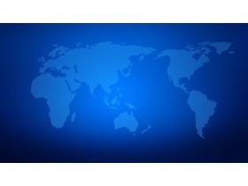 世界地图剪影PPT背景图片