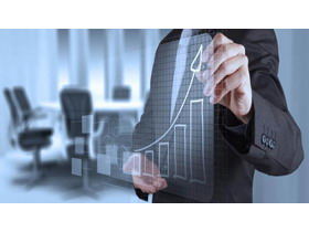 商务人物分析数据图表PPT背景图片
