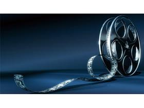 电影胶片磁盘PPT背景图片