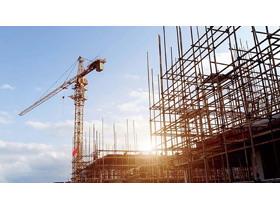 塔吊建筑工地PPT背景图片